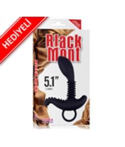 Black Mont 13cm Tırtıklı Anal Tıkaç - HEDİYELİ