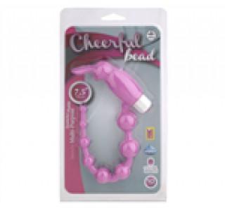 Cheerful Bead Titreşimli Anal Zevk Topları - Pembe
