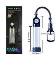 Maxman Basınç Göstergeli Penis Geliştirici Vakum Pompa - Siyah