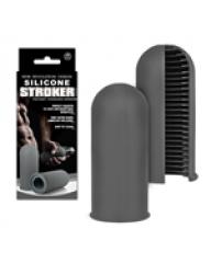 Silicone Stroker Mastürbatör - Gri