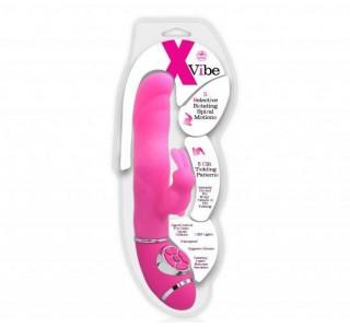 X Vibe Klitoral Uyarıcılı Çift Motorlu Teknolojik Vibratör - Pembe